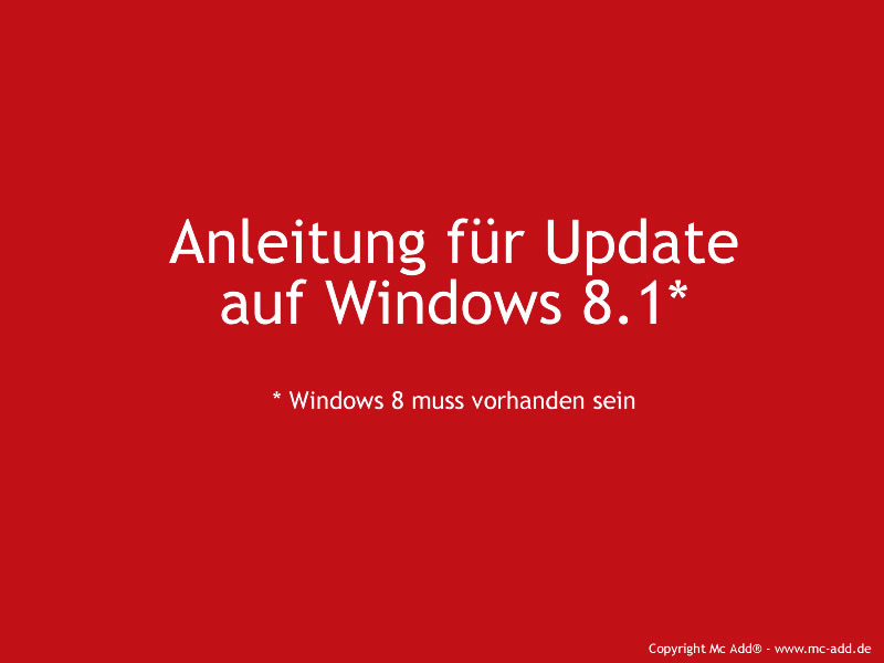 Mc Add - Windows Update Version 8.1